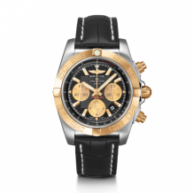 Chronomat 44 Stainless Steel / Rose Gold / Onyx Black / Croco / Folding