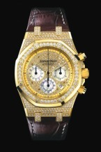 Royal Oak Chronograph 39 Yellow Gold / Diamond / Strap