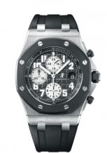 Royal Oak Offshore 25940 Chronograph Rubberclad Stainless Steel / Black / Black Date