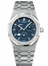 Royal Oak Dual Time Stainless Steel / Blue