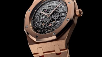 Royal Oak 15204 Openworked Extra-Thin Pink Gold
