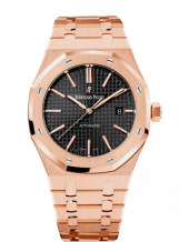Royal Oak 15400 Pink Gold / Black