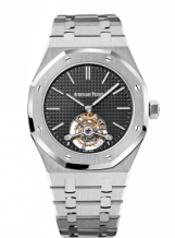 Royal Oak Ultra Thin Tourbillon Stainless Steel / Black