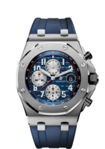 Royal Oak Offshore 26470 Stainless Steel / Blue / Rubber