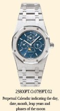 Royal Oak 25800 Perpetual Calendar Platinum / Blue