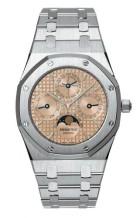 Royal Oak 25820 Perpetual Calendar Platinum / Salmon