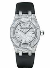 Royal Oak Quartz 67625 White Gold / Diamond / Diamond / Strap
