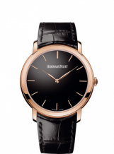 Jules Audemars 15180 Extra-Thin Pink Gold / Black