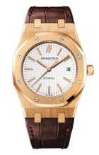 Royal Oak 15300 Pink Gold / Silver / Strap
