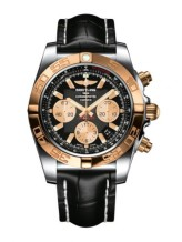 Chronomat 44 Stainless Steel / Rose Gold / Onyx Black / Croco / Pin