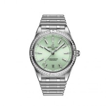 Chronomat Automatic 36 Stainless Steel - Diamond / Green / Rouleaux