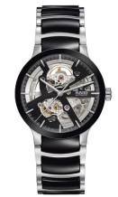 Gents Rado Centrix Round Black and Silver Watch.