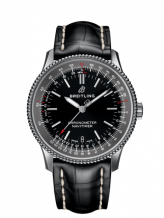 Navitimer 1 38 Automatic Stainless Steel / Black / Croco / Pin