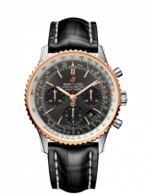 Navitimer 1 B01 Chronograph 43 Stainless Steel / Red Gold / Grey / Croco / Pin