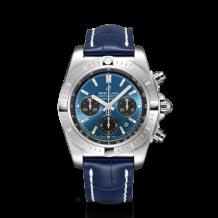 Chronomat B01 Chronograph 44 Stainless Steel / Blackeye Blue / Croco / Folding