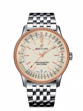Navitimer 1 38 Automatic Stainless Steel / Red Gold / Silver / Bracelet