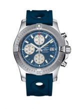 Colt Chronograph Automatic Stainless Steel / Mariner Blue / Rubber / Pin