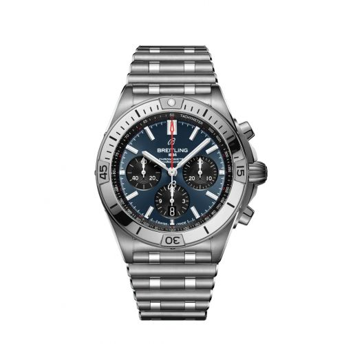 Chronomat B01 42 Stainless Steel / Blue / Rouleaux