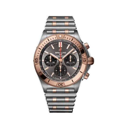 Chronomat B01 42 Stainless Steel / Red Gold / Anthracite  / Rouleaux